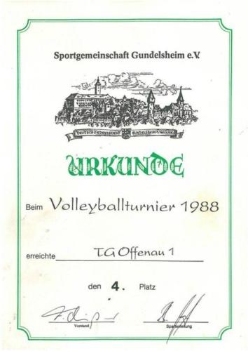 1988 Volleyballturnier Gundelsheim TGO1