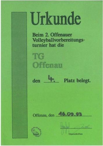 1993 Vorbereitungsturnier