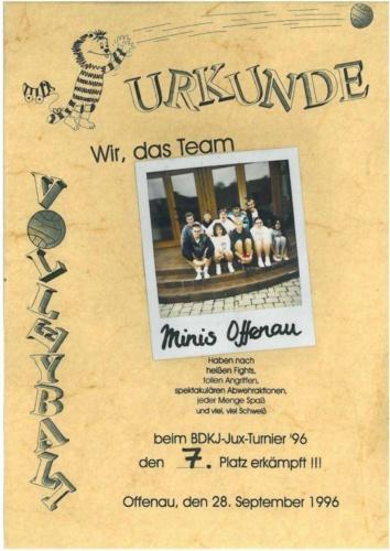 1996 BDKJ Minis Offenau