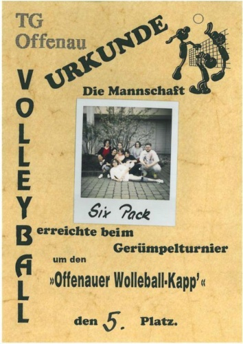 3 1995 Volleyball Sixpack