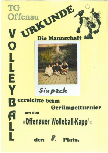 8 2000 Volleyball Sixpack